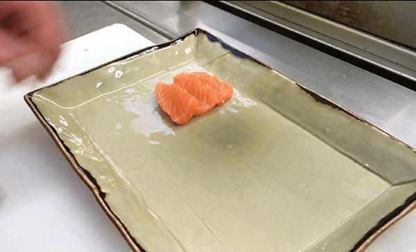 Lachs geschnitten